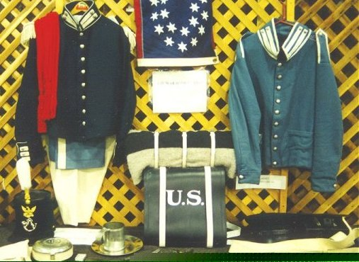 Mormon Battalion uniforms in the private collection of Dave G.