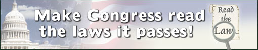Make Congress read the bills they pass!