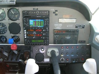 She also got a new IFR-certified Garmin 430 and a new Garmin 327 transponder to go with her new Michel MX-170B comm-nav.