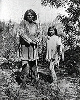 Paiute Man and Boy, 1874